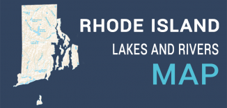 Rhode Island Lakes Rivers Map Feature