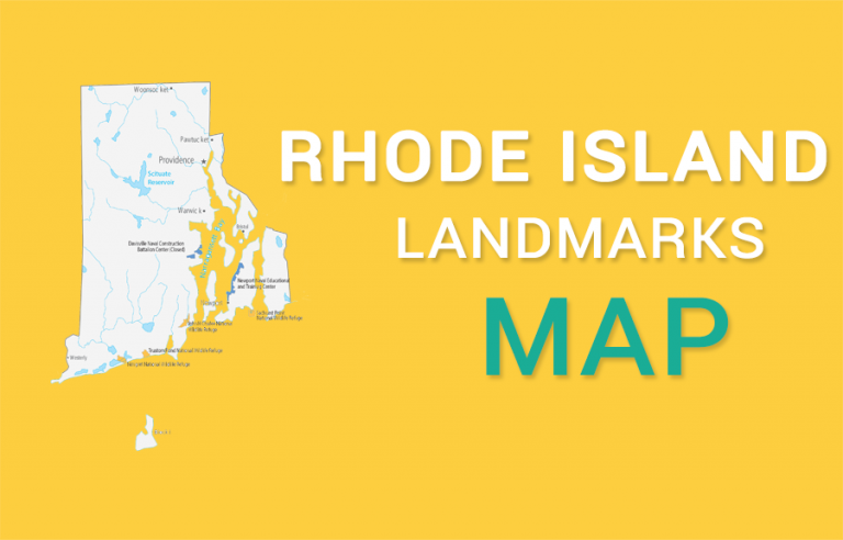 Rhode Island State Map – Places and Landmarks
