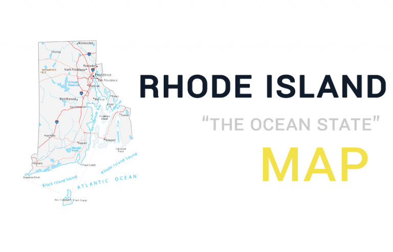 Map of Rhode Island – Cities and Roads