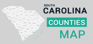 South Carolina County Map Feature