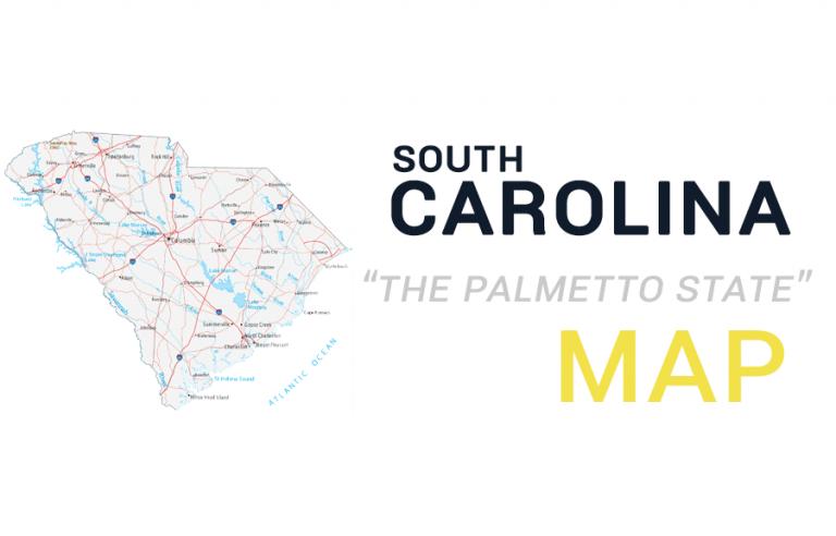 South Carolina Map – Cities and Roads