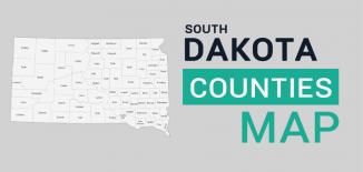 South Dakota County Map Feature
