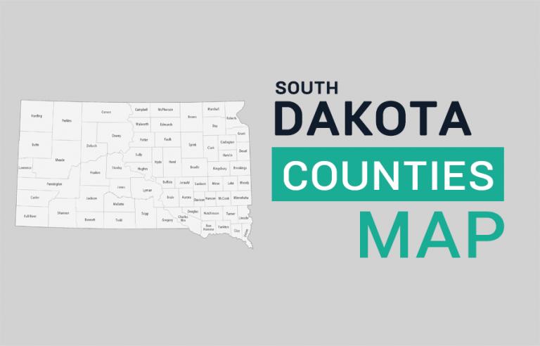 South Dakota County Map