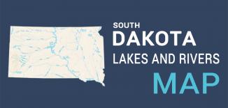 South Dakota Lakes Rivers Map Feature