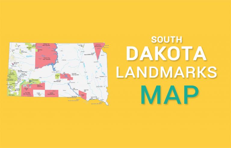 South Dakota State Map – Places and Landmarks