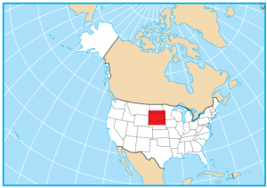 South Dakota Map Extent