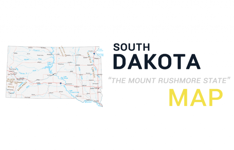 Map of South Dakota – Cities and Roads