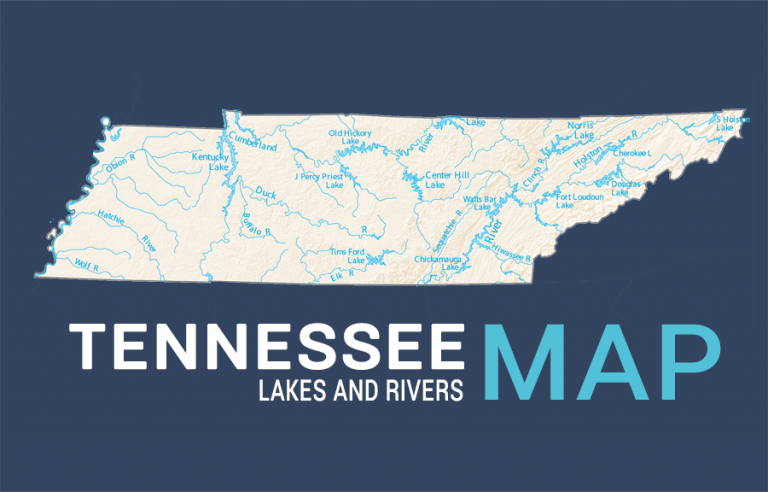 Tennessee Lakes and Rivers Map