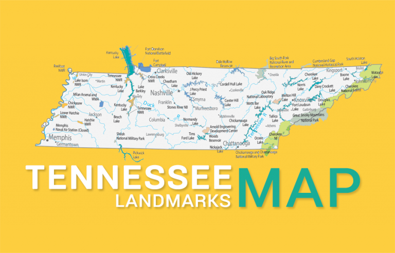 Tennessee State Map – Places and Landmarks