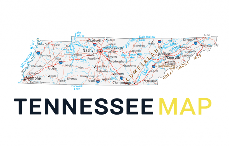 Map of Tennessee – Cities and Roads