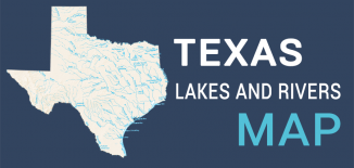 Texas Lakes Rivers Map Feature
