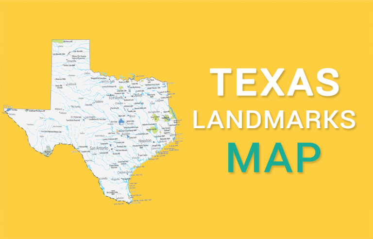 Texas State Map – Places and Landmarks