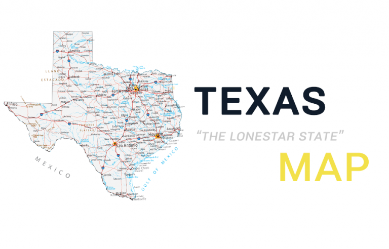Map of Texas – Cities and Roads
