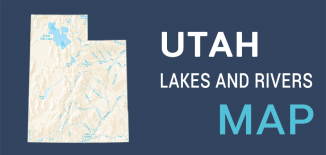 Utah Lakes Rivers Map Feature