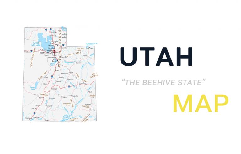 Map of Utah – Cities and Roads