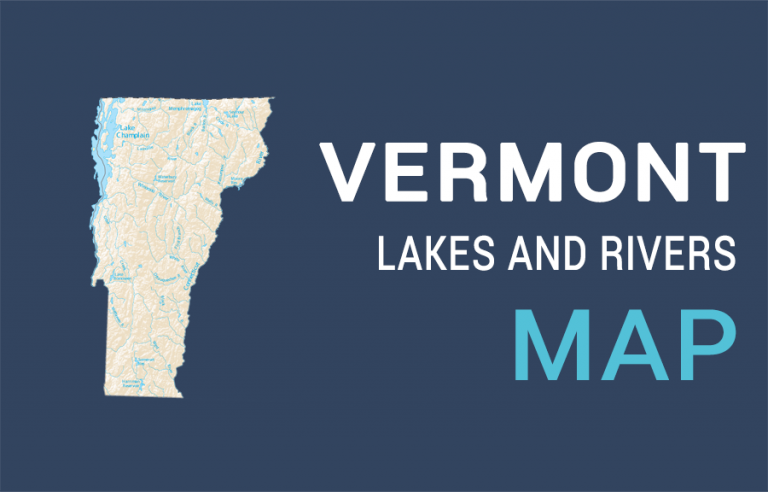 Vermont Lakes and Rivers Map