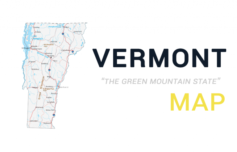 Map of Vermont – Cities and Roads