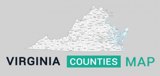 Virginia County Map Feature