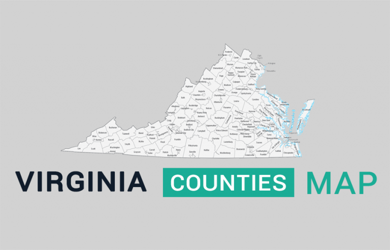 Virginia County Map and Independent Cities