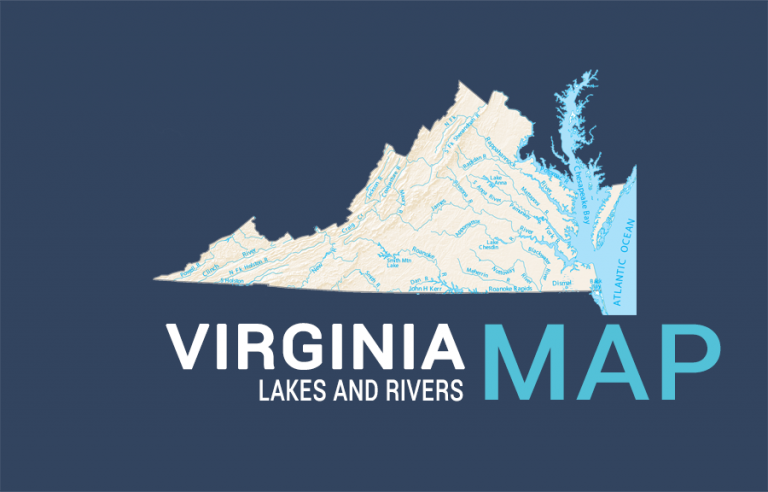 Virginia Lakes and Rivers Map