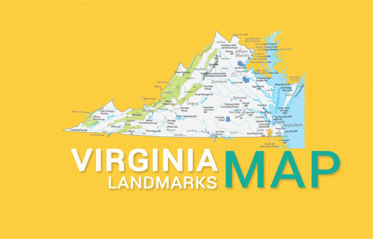 Virginia State Map – Places and Landmarks