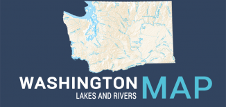Washington Lakes Rivers Map Feature