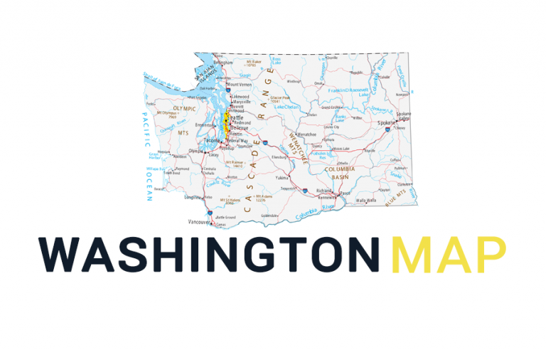 Map of Washington – Cities and Roads