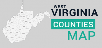 West Virginia County Map Feature