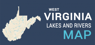 West Virginia Lakes Rivers Map Feature