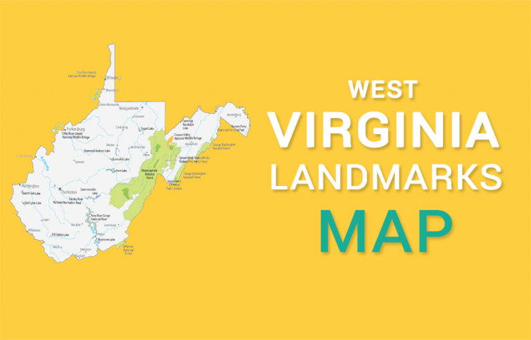 West Virginia State Map – Places and Landmarks
