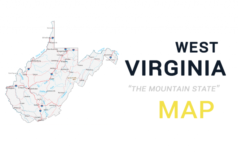 Map of West Virginia – Cities and Roads
