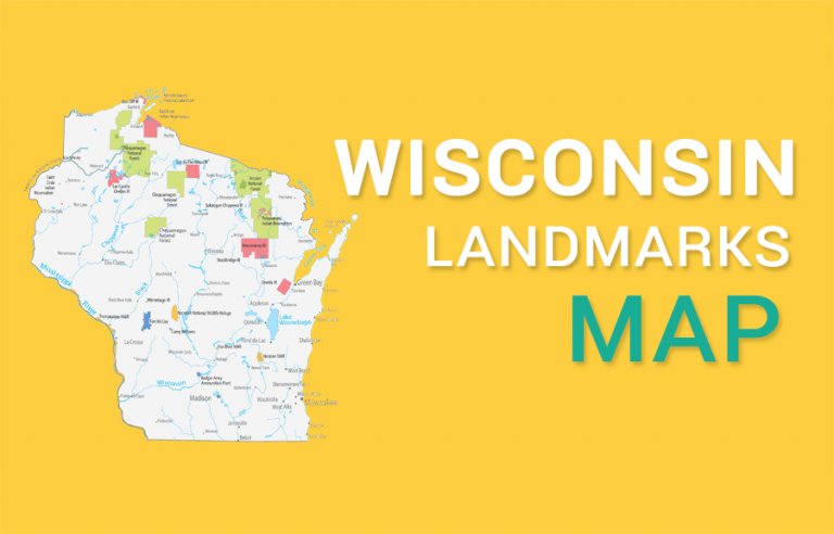 Wisconsin State Map – Places and Landmarks