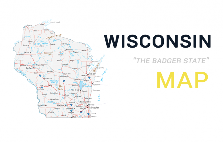 Map of Wisconsin – Cities and Roads