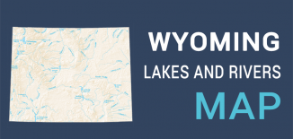 Wyoming Lakes Rivers Map Feature