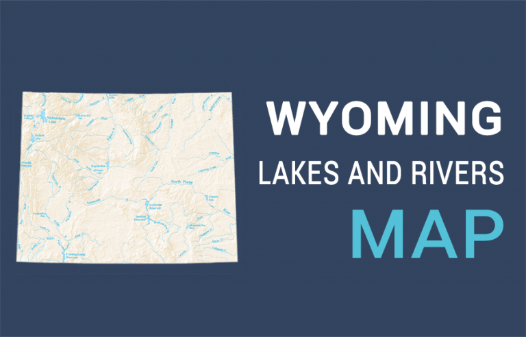 Wyoming Lakes and Rivers Map