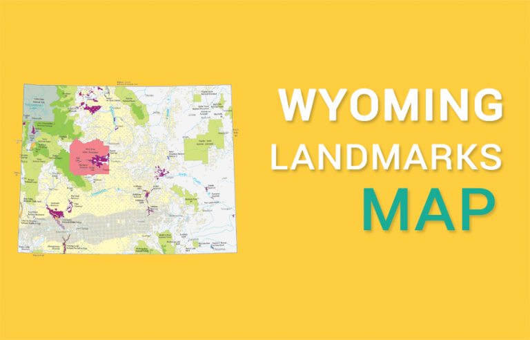Wyoming State Map – Landmarks and Places