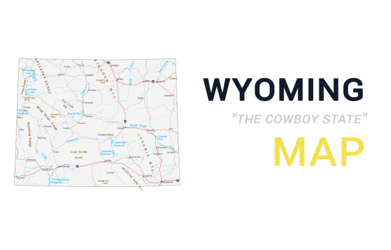 Map of Wyoming – Cities and Roads