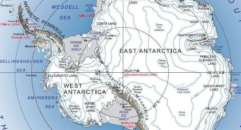 mountains in antarctica map Antarctica Map And Satellite Imagery Free mountains in antarctica map