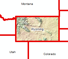 Wyoming Shaded Relief