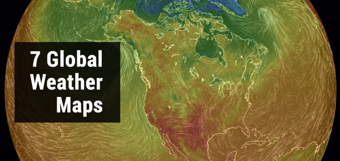 Global weather maps