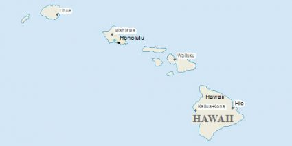 Hawaii Natural Earth Data: Island, Ocean, Rivers