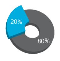GIS Percent 80% 20%
