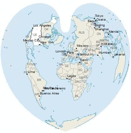 ArcGIS projection: Bonne world projection