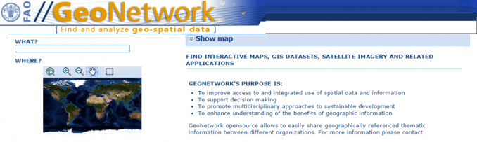 FAO GeoNetwork Free GIS Data