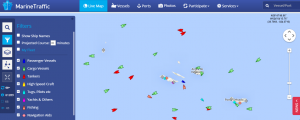marine traffic real time map