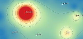 GIS software heatmap