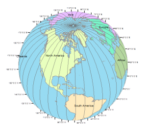 Pole Shift World Map.Magnetic North Vs Geographic True North Pole Gis Geography