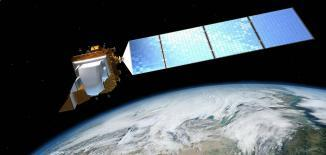Landsat-8 Illustration Above Earth