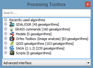 QGIS Advanced GeoAlgorithms