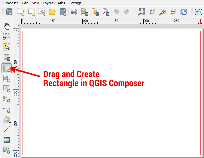 QGIS Composer Map Rectangle